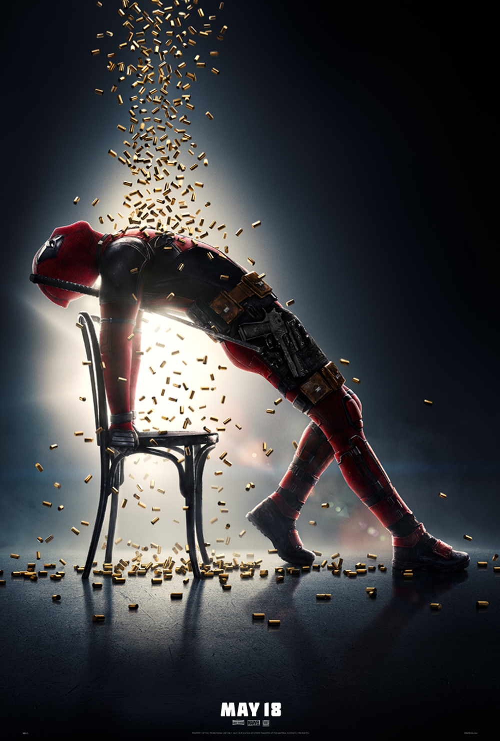 Deadpool 2 shower of bullets