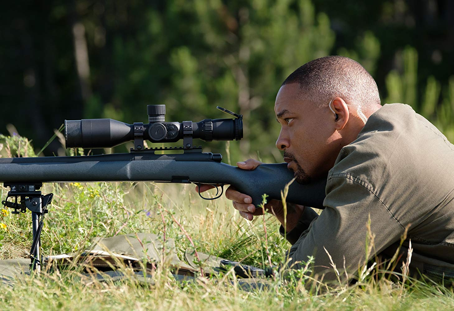 Gemini Man Will Smith train sniping scene
