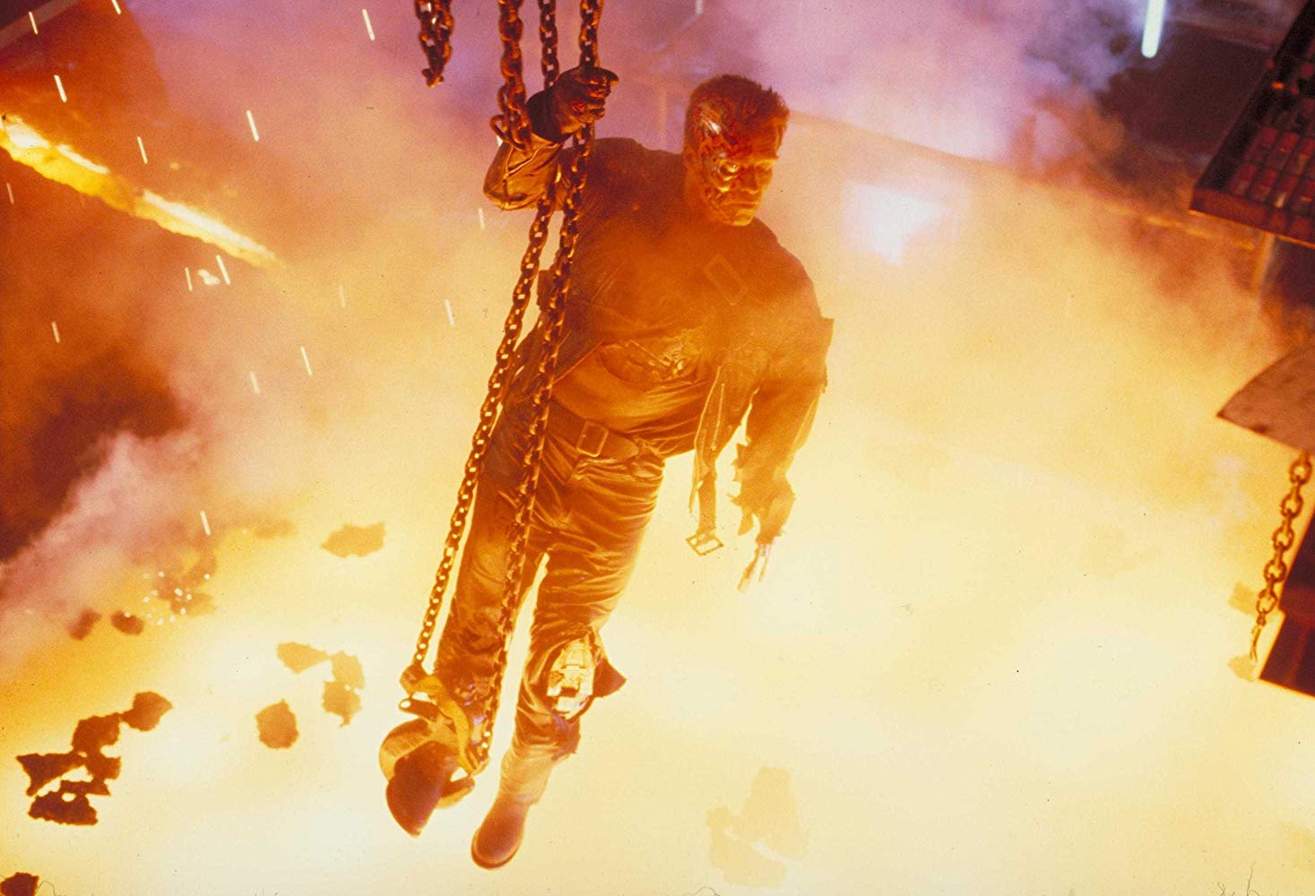 Terminator 2 Judgment Day iconic pool of molten steel