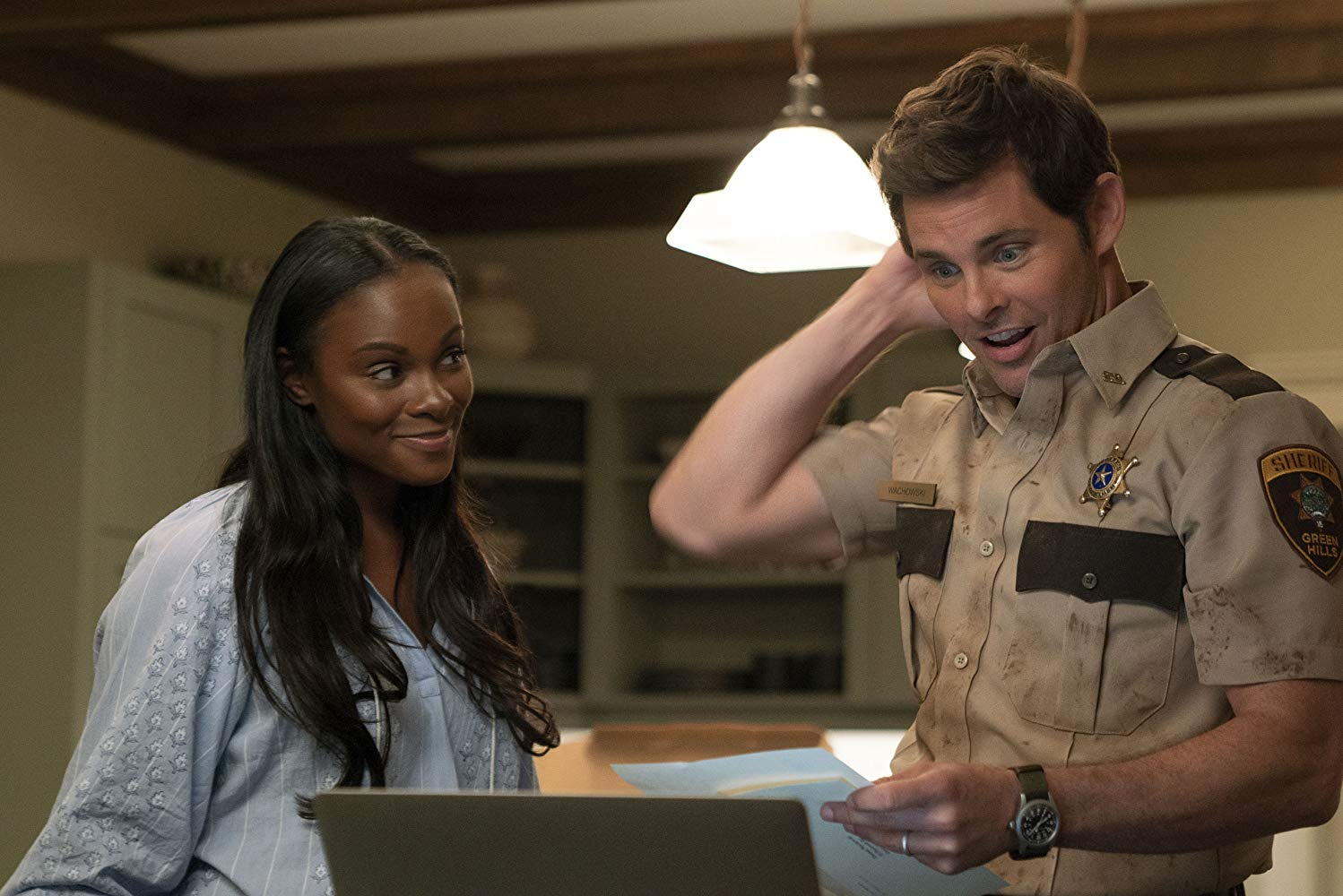 Sonic the Hedgehog James Marsden and Tika Sumpter as Tom Wachowski and Maddie