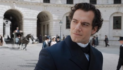 Henry Cavill with curly hair in Netflix Enola Holmes