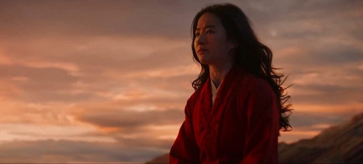 Mulan Liu Yifei Crying Against Sunset