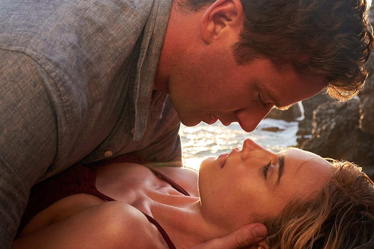 Movie Review Rebecca Lily James and Armie Hammer beach hot scene