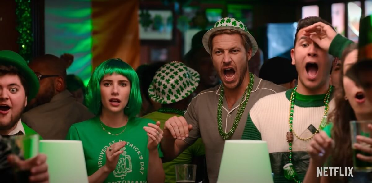 Movie Review Holidate Luke Bracey and Emma Roberts on St Patricks Day