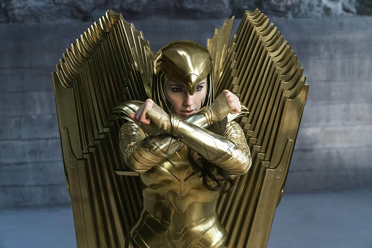 Movie Review Wonder Woman 1984 Golden Eagle Armor Upclose