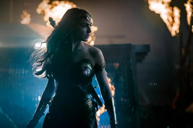 Wonder Woman Gal Gadot Diana Prince dark finale ember backlighting